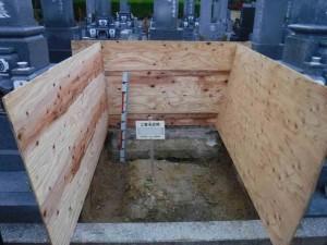 墓地内のコンクリートガラや廃棄物はすべて取り除きます