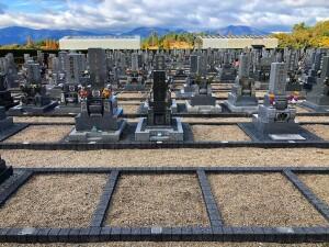 1.875㎡の一般墓所。