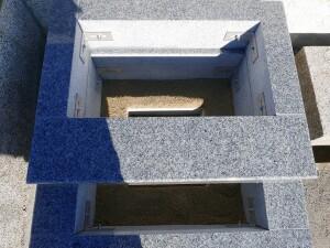 芝台・四ツ石の設置