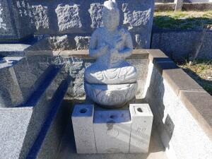 既存の石仏の設置